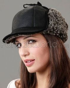 54f952e5a95 Shop FurHatWorld for Shearling Sheepksin Trapper Hats. Buy the Lady Fudd  Shearling Sheepskin Hat in Black Frost by FRR with fast same day shipping.