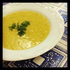 sopa de milho e alho poró