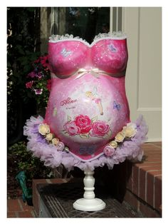 Just finished my latest Princess babybelly dream ♥ Belly Cast Decorating, Belly Casting, Body Cast, Plaster Art, Baby Art, Blog, It Cast, Victoria, Princess