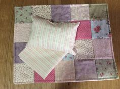 Doll quilt, pillow and sheet set by TheAngoraBunny on Etsy https://www.etsy.com/au/listing/537520783/doll-quilt-pillow-and-sheet-set