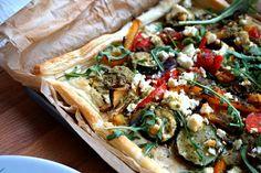 Roasted Vegetable and Feta Tart