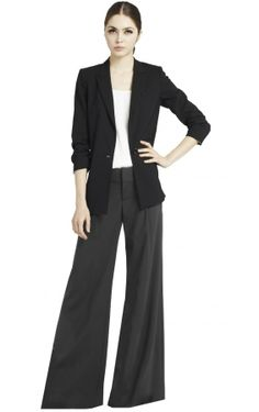 Alice + Olivia Wool Eric Front Pleat Wide Leg Pant on shopstyle.com