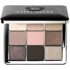 Bobbi Brown Sterling Nights Eye Palette found on Polyvore featuring beauty products, makeup, eye makeup, eyeshadow, shimmer eyeshadow, sparkle eyeshadow, eyeshadow brush, matte eye shadow and palette eyeshadow