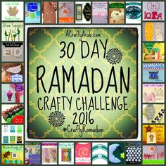 A Crafty Arab 2016 CraftyRamadan 30 day challenge. Back in July 2011 when my daughters and I began the Crafty Ramadan 30 Day Challenge, it was because there were no creative website that met our heritage and cultural needs. As an Arab artist, I had the r Eid Crafts, Ramadan Crafts, Ramadan Decorations, Ramadan Tips, Ramadan 2016, Holiday Crafts, Create And Craft, Crafts To Make, Crafts For Kids