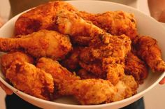 How To Make Finger-Licking Fried Chicken — It's Not As Scary As It Seems. I overcame my fear of frying chicken last night with this recipe. BEST, juiciest, crispiest chicken I've ever had! Entree Recipes, Veg Recipes, Turkey Recipes, Indian Food Recipes, Appetizer Recipes, Healthy Recipes, Ethnic Recipes, Appetizers, Crispy Chicken Recipes