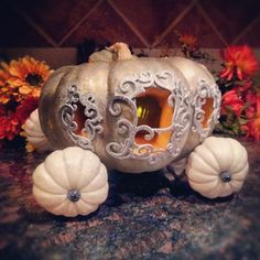 Magical Cinderella Pumpkin DIY. Easy to do and takes less than an hour.