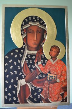 """Icon of the Mother of God """"Czestochowa"""" - Orthodox Church in America Images Of Christ, Religious Images, Religious Icons, Religious Art, Madonna Art, Madonna And Child, Byzantine Art, Byzantine Icons, I Love You Mother"""