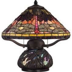 Quoizel Tiffany Copperfly Imperial Bronze Finish 2-light Table Lamp