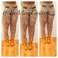 """Wild Thing"" Leggings with zippers! Very Slimming! Skinny Leg! Avail in S/M/L!"