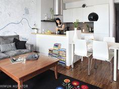 Mała BIAŁA KUCHNIA z SALONEM: jak dobrze połączyć salon z kuchnią