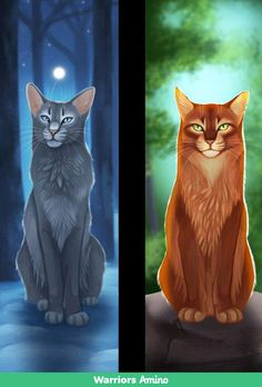 Bluestar and Fireheart. I love these two! Shame Bluestar died so soon, but for a good cause, at least.