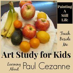 Paul Cezanne Artist Study Artist Study Paul Cezanne<br> teach kids to paint a still life with this Paul Cezanne Artist study. Cezanne Art, Paul Cezanne Paintings, Cezanne Still Life, Art History Lessons, Still Life Artists, Painting Still Life, Painting Art, 3rd Grade Art, Art Curriculum