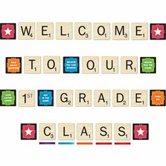 Scrabble™ Welcome To Our Class Mini Bulletin Board Set