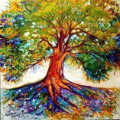 Colorful tree of life-tattoo idea                                                                                                                                                     More