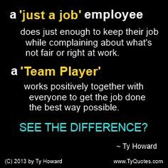 Team Player Quote. Teamwork Quote. Team Building Quote. motivational quote. inspirational quote. empowerment quote. Ty Howard. Motivation Magazine. Workplace Quotes. ( MOTIVATIONmagazine.com )