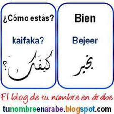 Decir como estas en arabe