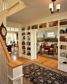 Built in bookcase-- separate two spaces with open shelves...