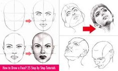 How to Draw a Face - 25 Step by Step Drawings and Video Tutorials by webneel