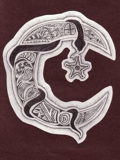 snake moon doodle, Chelsea Miller