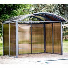 Armoire de jardin métal quartz, l.155 x H.182 x P.83 cm | Jardin ...
