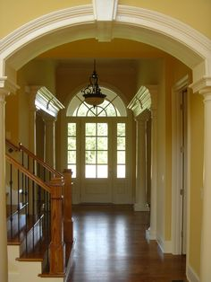 Traditional Front Doors With Sidelights And Transom Design, Pictures, Remodel, Decor and Ideas Entry Door With Sidelights, Entry Doors, Entryway, Traditional Front Doors, Traditional House, Home Decor Online, Front Entry, Architecture Details, Stairs