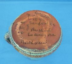 *RARE* Neloa Cole Sanford NC PERSONALIZED Pottery Cup 1985 Cole Pottery