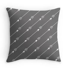 Charcoal Gray Arrows Decorative Throw Pillow by mallorylynndecor, $32.00 #arrowpillow #followyourarrow