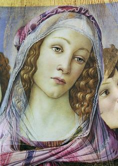 Madonna of the pomegranate by Sandro Botticelli, Kunsthistorisches Institut in Florenz, CC-BY-NC-SA - detail Portrait Renaissance, Renaissance Paintings, Renaissance Art, Madonna, Famous Historical Figures, Giorgio Vasari, Baroque Painting, Classic Paintings, Caravaggio