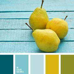 color amarillo verdoso, color del agua, color pera verde, color verde amarillento, color verde claro, colores para la decoración, matices fríos y cálidos, paleta de colores para cuarto de niño, paletas de colores para decoración, paletas para un diseñador, tonos celestes y verdes, verde
