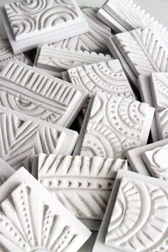 stamps made out of craft foam and carved with heat - (sold out) - Inspiration for carving stamps