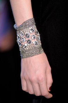 Armani Privé Fall 2012 - Details-an idea is born! Mending knit with crystals!