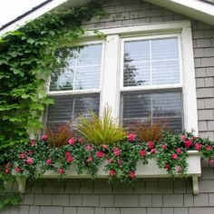Faux Vines And Flowers In A Window Box Artificial Plants
