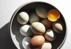 Eat the yolk.