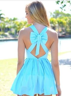 Bow back skater dress   Yay or nay?