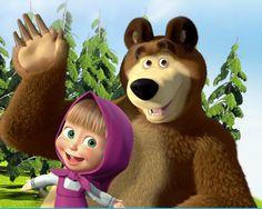 slovenská Máša a medveď