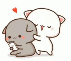 The perfect Cat Hug BackHug Animated GIF for your conversation. Discover and Share the best GIFs on Tenor. Cute Bear Drawings, Cute Animal Drawings Kawaii, Cute Cartoon Drawings, Cute Couple Cartoon, Cute Cartoon Pictures, Cute Love Cartoons, Gif Lindos, Memes Lindos, Cute Anime Cat