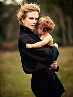 NICOLE KIDMAN:  After a day of shooting on location for the June/July cover of Australia's Harper's BAZAAR, Nicole Kidman took a few extra moments to spend time with her two onset visitors: daughters Faith Margaret, 16 months, and Sunday Rose, 3½.