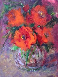 """Daily Paintworks - """"Valentines Bouquet Acrylic Painting on Canvas by Arizona Artist Amy Whitehouse"""" - Original Fine Art for Sale - © Amy Whitehouse"""
