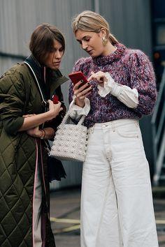 , Streetstyle на Неделе моды в Копенгагене