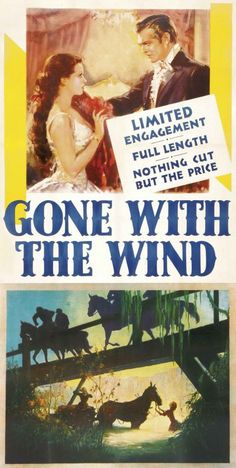 Gone With the Wind old movie poster ~