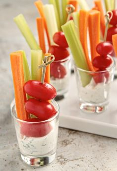 Shot Glass Appetizers: All-in-one finger food for your next party Kitchn .Shot Glass Appetizers: All-in-one finger food for your next party Kitchn - # for # next Colored cheese tartufini First Finger Foods, Party Finger Foods, Snacks Für Party, Appetizers For Party, Appetizer Recipes, Delicious Appetizers, Veggie Appetizers, Appetizer Ideas, Individual Appetizers