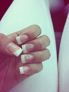 #acrilic #nails #sparkles #frenchtip