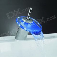Color: custom10000; Material: Brass + Glass; Quantity: 1 Piece; Finish: Antique Brass; Faucet Spout Material: Glass; Faucet Body Material: Brass; Faucet Handle Material: Brass; Style: Contemporary; Packing List: 1 x Waterfall Faucet1 x Pipe; http://j.mp/1q1wEOi