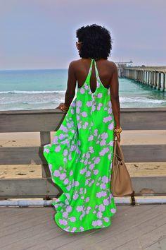 Style Pantry | DVF Printed High/Low Silk Dress