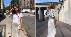 The Perfect Dress That Has Truly Taken Over Our Instagram Feeds http://www.whowhatwear.co.uk/ganni-polka-dot-print