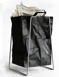 Bag & stand...is the bag leather that looks like paper, or is it just paper?