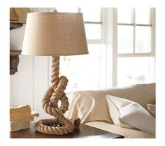 pottery barn tall rope lamp - Google Search