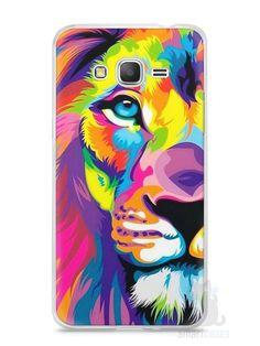 Capa Samsung Gran Prime Leão Colorido #1 - SmartCases - Acessórios para celulares e tablets :)