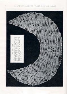 Gown Yokes and More New Ideas in Crochet Novelty Art Crochet Book #9 c.1917