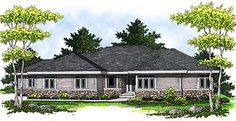 House Plans Elevation Of Colonial European Traditional House Plan